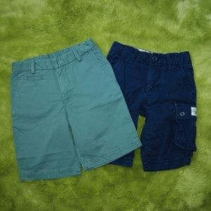GAP Kids Lot of 2 Boys Cargo Shorts Blue and Green